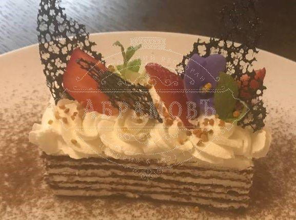 Bird cherry honey cake