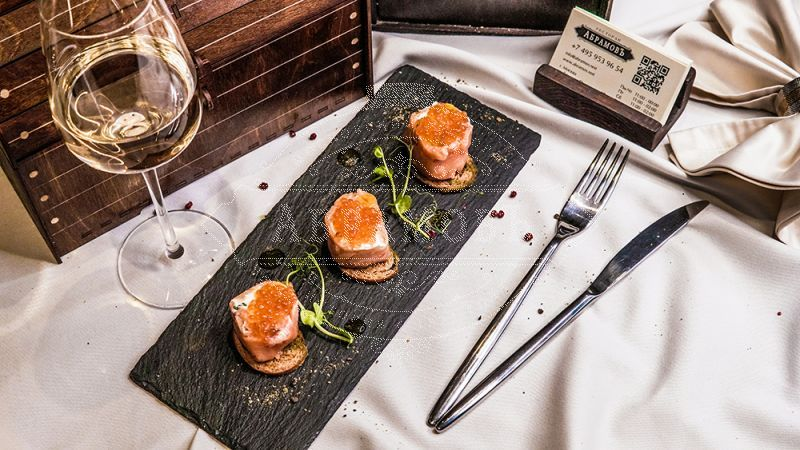 Light-Salted Salmon Stuffed with Red Caviar and Soft Cream Cheese