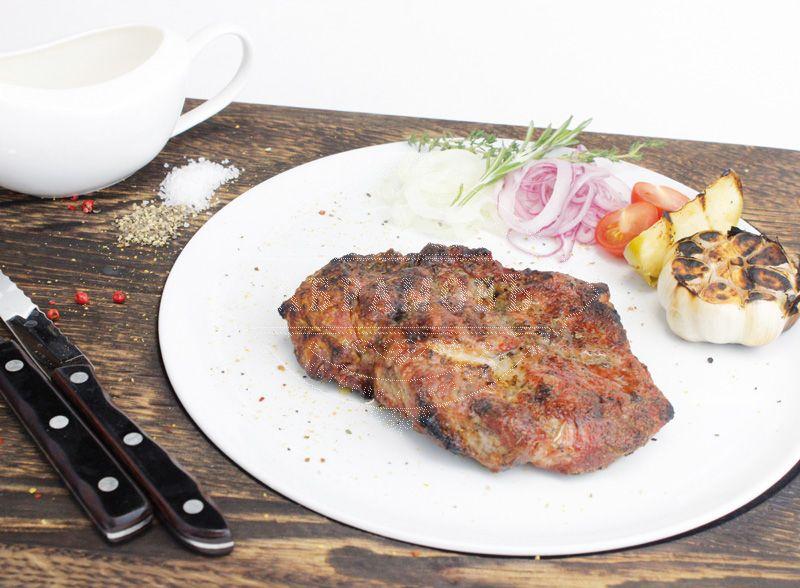 Pork neck steak