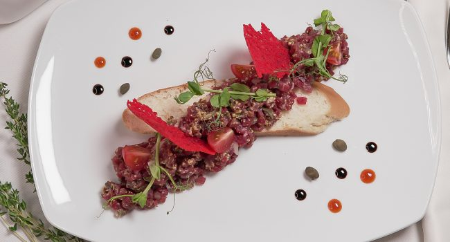 Classic-Style Tartar from Marbled Beer
