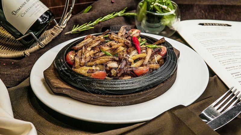Roasted Potato with Porcini Mushrooms