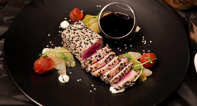 Yellowfin tuna fillet with ponzu sauce