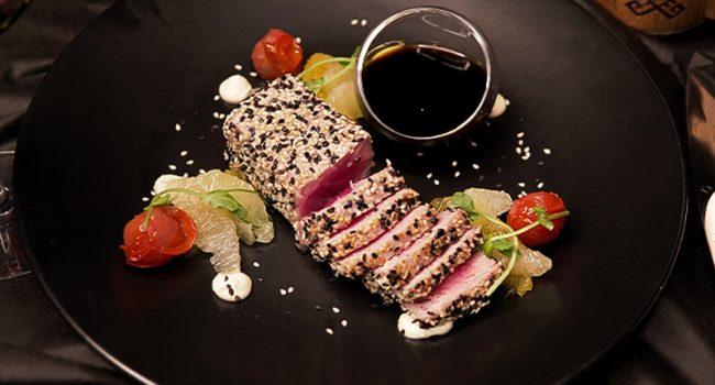 Филе желтоперого тунца с соусом понзу